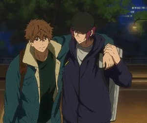 anime, rin matsuoka, and natsuya kirishima image