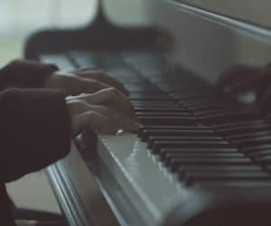 piano, gif, and music image