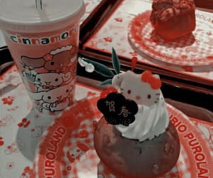 aesthetic, red aesthetic, and hello kitty image