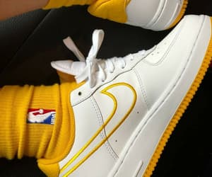 nike, yellow, and fashion image