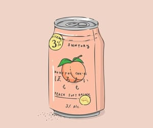 peach, aesthetic, and juice image