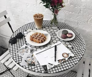 aesthetic, cafe, and chair image