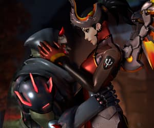 mercy, gency, and oni genji image