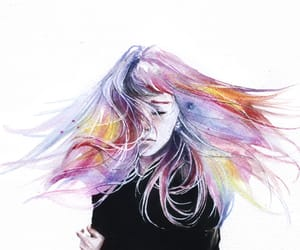 art, girl, and colors image