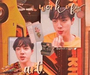 jin, kpop, and wallpaper image
