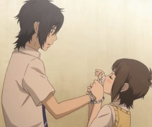 anime, couple, and say i love you image