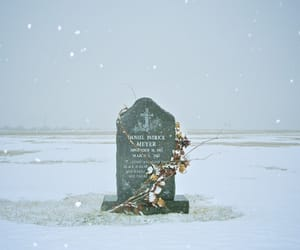 cemetery, photographers on tumblr, and snow image