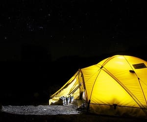 camping, photography, and yellow image