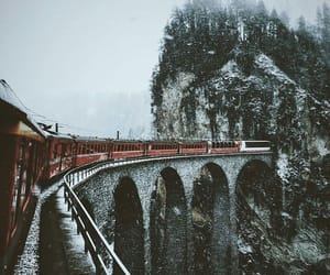 winter, train, and travel image