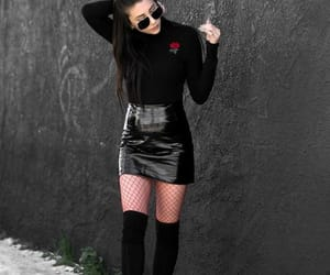 black, look, and street style image