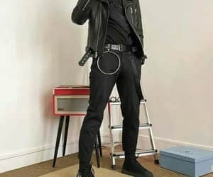 black, male, and black clothes image