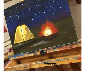 art, campfire, and chill image