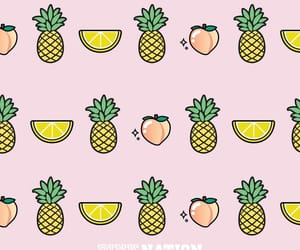 peach, pineapple, and wallpaper image