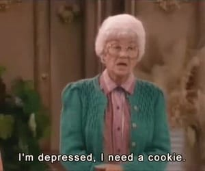 cookie, depressed, and quotes image