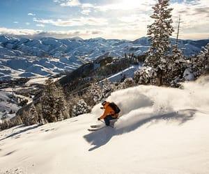 cold, mountains, and ski image