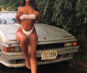 car, tan, and baddie image