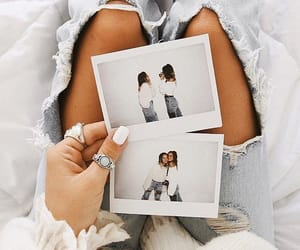 girls, polaroid, and tumblr image