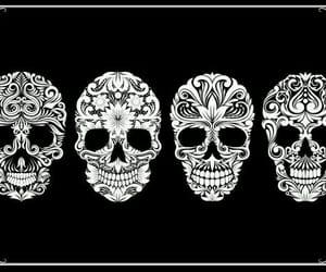 art, pretty, and skull image