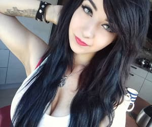 black hair, emo, and hairstyle image