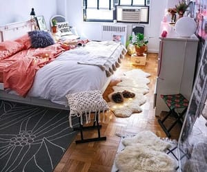 bedrooms, beds, and boho image