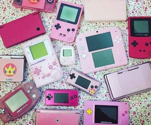 aesthetic, games, and pink image