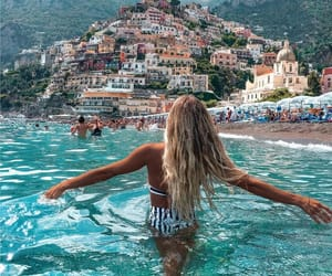travel, girl, and beach image