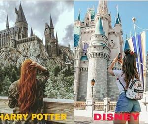 castle, sky, and disney image