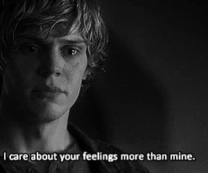 american horror story, tate, and feelings image