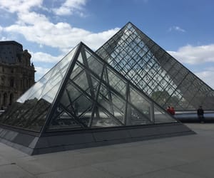 cloud, france, and louvre image