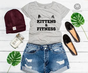 etsy, funny cat shirt, and fitness t-shirt image