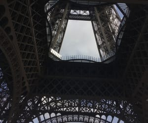 clouds, cloudy, and eiffel image