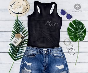 etsy, womens tank top, and dinosaurs pocket tee image