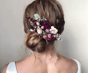 flowers and hairstyle image