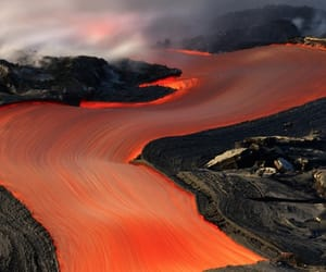 lava, volcano, and nature image