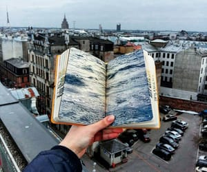 book, city, and art image