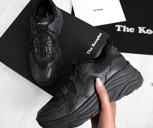 black, sneakers, and sport image