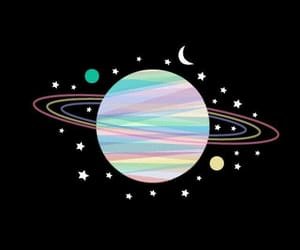 black, pastel, and planets image