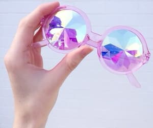 blue, colours, and sunglasses image