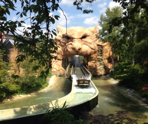 statue, theme park, and tiger image