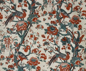 antique, bird, and floral image