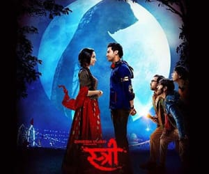 stree, first look poster, and sraddha kapoor image