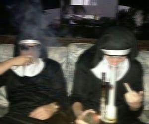 nun, smoke, and weed image