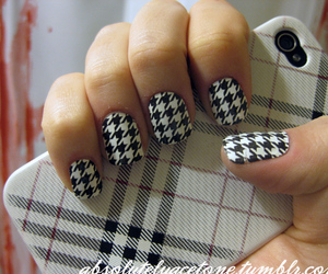 fashion, houndstooth, and girl image