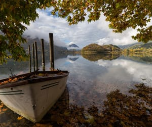 autumn, boat, and europe image