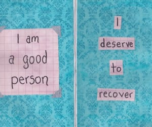 journal, recovery, and self love image