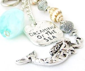 etsy, mermaid accessories, and beach keychain image