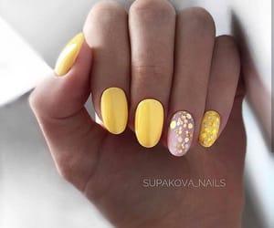 bright, fashion, and yellow nails image