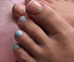 toe, toe nail, and toe nails image