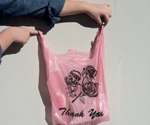alternative, flowers, and bag image