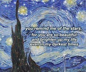 aesthetic, poetry, and starry night image